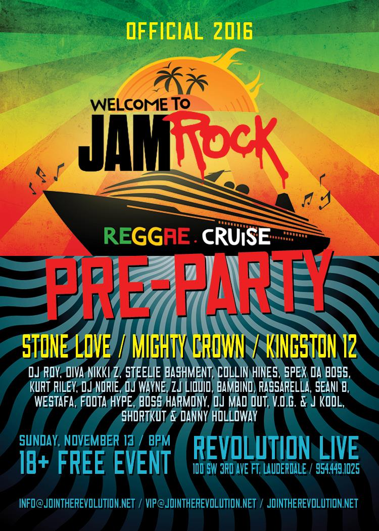 Jamrock Cruise 2020.Official Welcome To Jamrock Cruise Pre Party Revolution Live