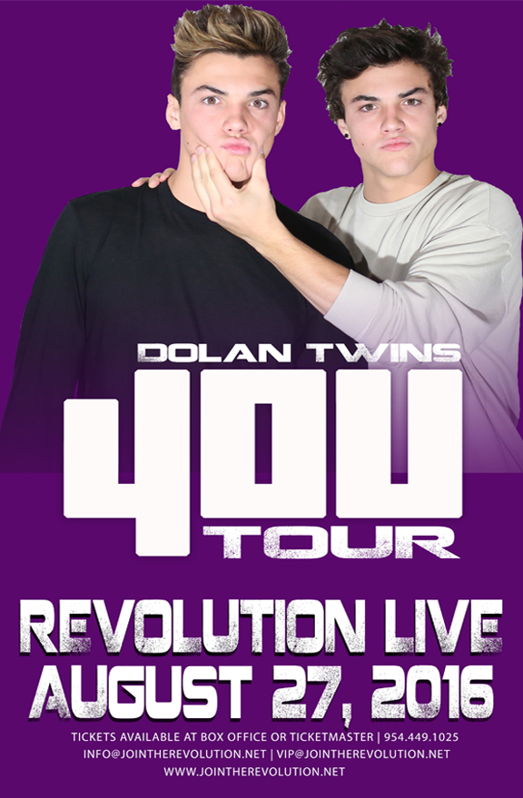 4ou Tour Dates 2020 The Dolan Twins at Revolution Live on August 27th, 2016
