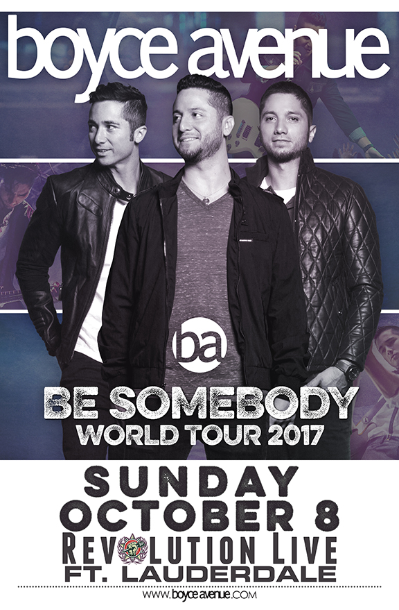Boyce Avenue Fort Lauderdale October 8 2017