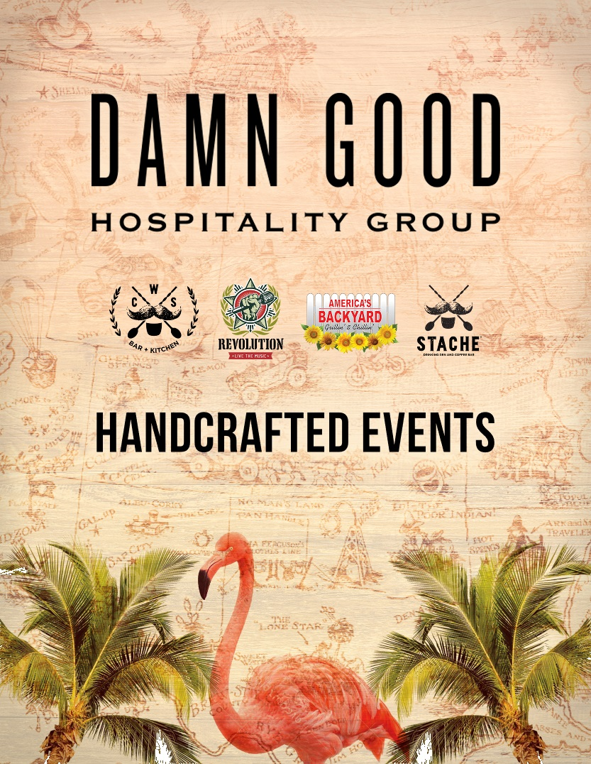 Image of the cover of the Damn Good Hospitality Group Handcrafted Events booklet