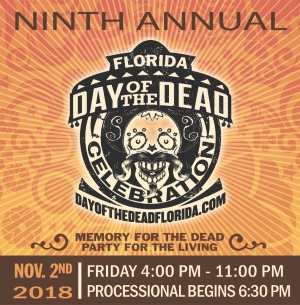 An image of the Ninth Annual Florida Day of the Dead logo