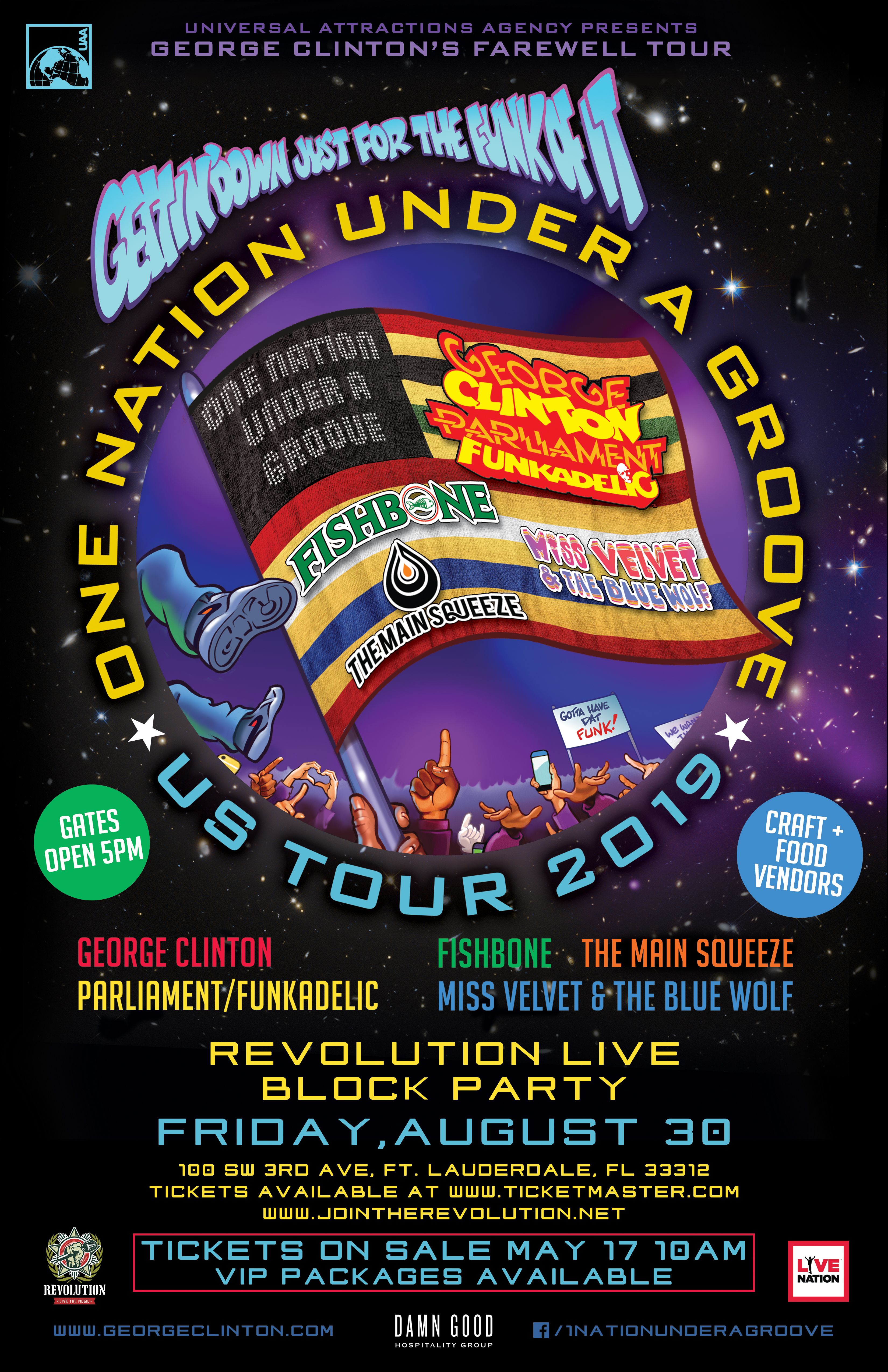 One Nation Under a Groove with George Clinton & Parliament Funkadelic